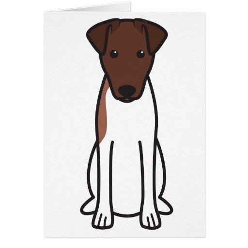 Smooth Fox Terrier Dog Cartoon Card