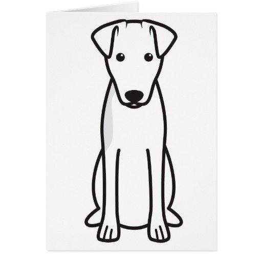 Smooth Fox Terrier Dog Cartoon Cards