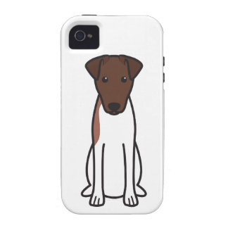 Smooth Fox Terrier Dog Cartoon Case-Mate iPhone 4 Cases