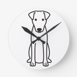 Smooth Fox Terrier Dog Cartoon Wallclock