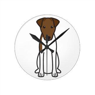 Smooth Fox Terrier Dog Cartoon Wall Clocks