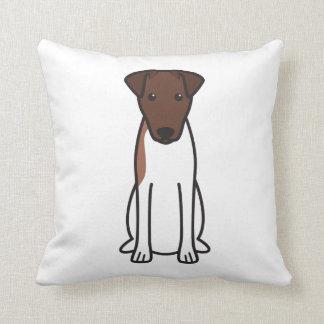 Smooth Fox Terrier Dog Cartoon Throw Pillow