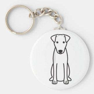 Smooth Fox Terrier Dog Cartoon Keychain
