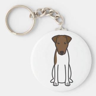 Smooth Fox Terrier Dog Cartoon Key Chain