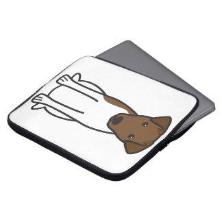 Smooth Fox Terrier Dog Cartoon Laptop Computer Sleeve