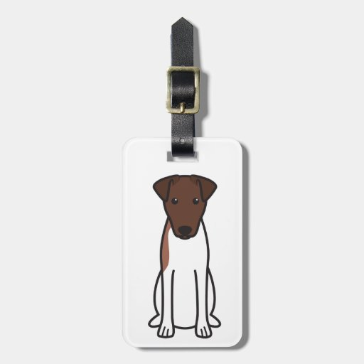 Smooth Fox Terrier Dog Cartoon Tag For Bags
