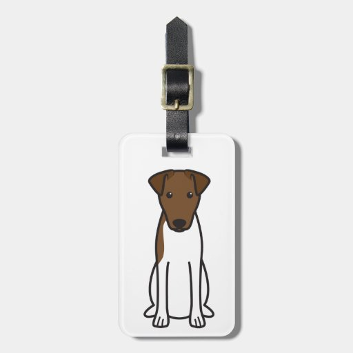 Smooth Fox Terrier Dog Cartoon Tags For Luggage