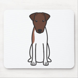 Smooth Fox Terrier Dog Cartoon Mouse Pad