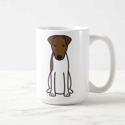 Smooth Fox Terrier Dog Cartoon Mugs