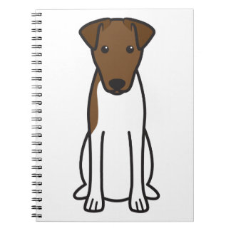 Smooth Fox Terrier Dog Cartoon Journals