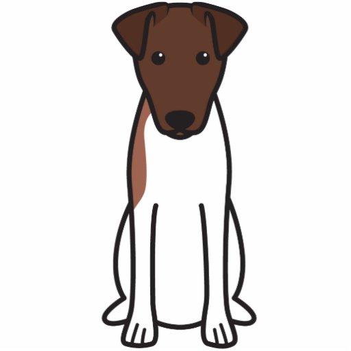 Smooth Fox Terrier Dog Cartoon Photo Sculpture