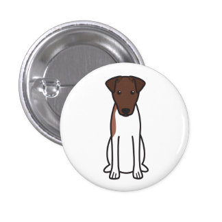 Smooth Fox Terrier Dog Cartoon Pinback Buttons