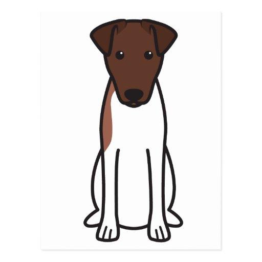 Smooth Fox Terrier Dog Cartoon Postcards