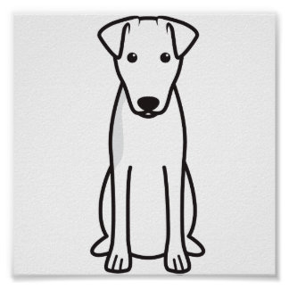 Smooth Fox Terrier Dog Cartoon Posters