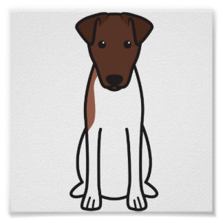 Smooth Fox Terrier Dog Cartoon Print