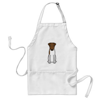 Smooth Fox Terrier Dog Cartoon Standard Apron