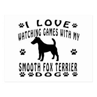 Smooth Fox Terrier Dog Design Postcard