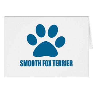 SMOOTH FOX TERRIER DOG DESIGNS CARD