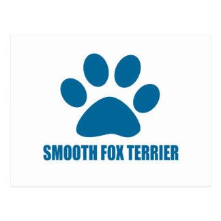 SMOOTH FOX TERRIER DOG DESIGNS POSTCARD