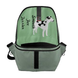 Smooth  Fox Terrier ~ Green Leaves Design Commuter Bag