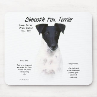 Smooth Fox Terrier History Design Mousepads
