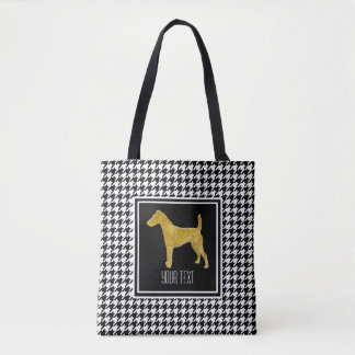 Smooth Fox Terrier Houndstooth Tote Bag