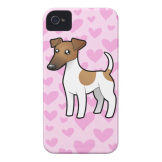 Smooth Fox Terrier Love iPhone 4 Covers