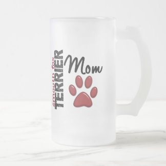 Smooth Fox Terrier Mom 2 16 Oz Frosted Glass Beer Mug