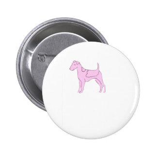 Smooth Fox Terrier Pink Dog Pins