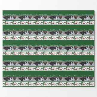 Smooth Fox Terrier puppy wrapping paper