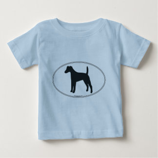 Smooth Fox Terrier Silhouette Baby T-Shirt
