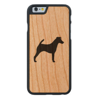 Smooth Fox Terrier Silhouette Carved Cherry iPhone 6 Case
