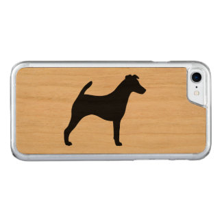 Smooth Fox Terrier Silhouette Carved iPhone 8/7 Case
