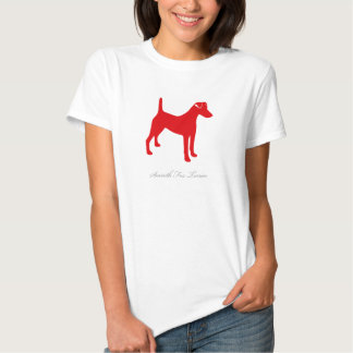 Smooth Fox Terrier T-shirt (red silhouette)