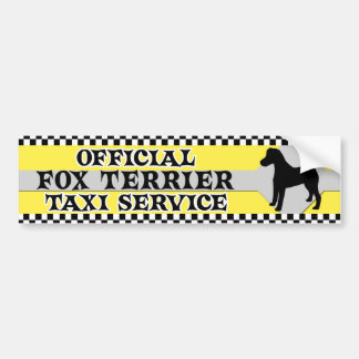 Smooth Fox Terrier Taxi Service Bumper Sticker