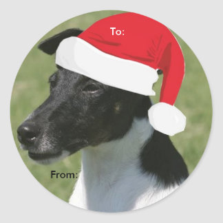 Smooth Fox Terrier To/From Christmas stickers