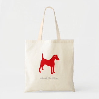 Smooth Fox Terrier Tote Bag (red silhouette)