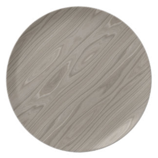 Smooth Gray Wood Plate