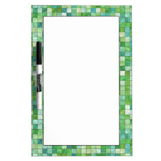 Smooth irregular green background dry erase board