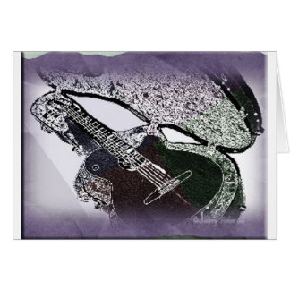 Smooth Jazz Guitar Stationery Note Card