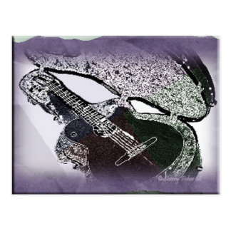 Smooth Jazz Guitar Postcard