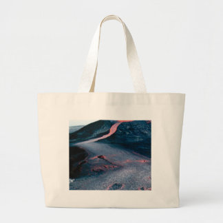 smooth lava river large tote bag