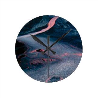 smooth lava river round clock