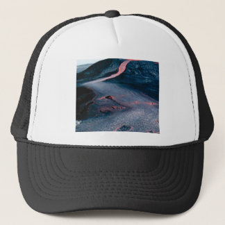 smooth lava river trucker hat