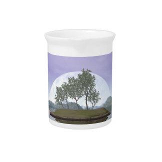 Smooth leaved elm bonsai tree - 3D render Beverage Pitcher