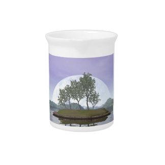 Smooth leaved elm bonsai tree - 3D render Beverage Pitchers
