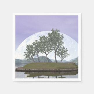 Smooth leaved elm bonsai tree - 3D render Disposable Serviettes
