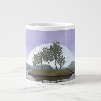 Smooth leaved elm bonsai tree - 3D render Giant Coffee Mug