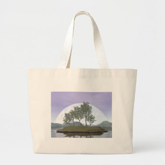 Smooth leaved elm bonsai tree - 3D render Large Tote Bag
