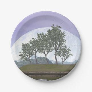 Smooth leaved elm bonsai tree - 3D render Paper Plate